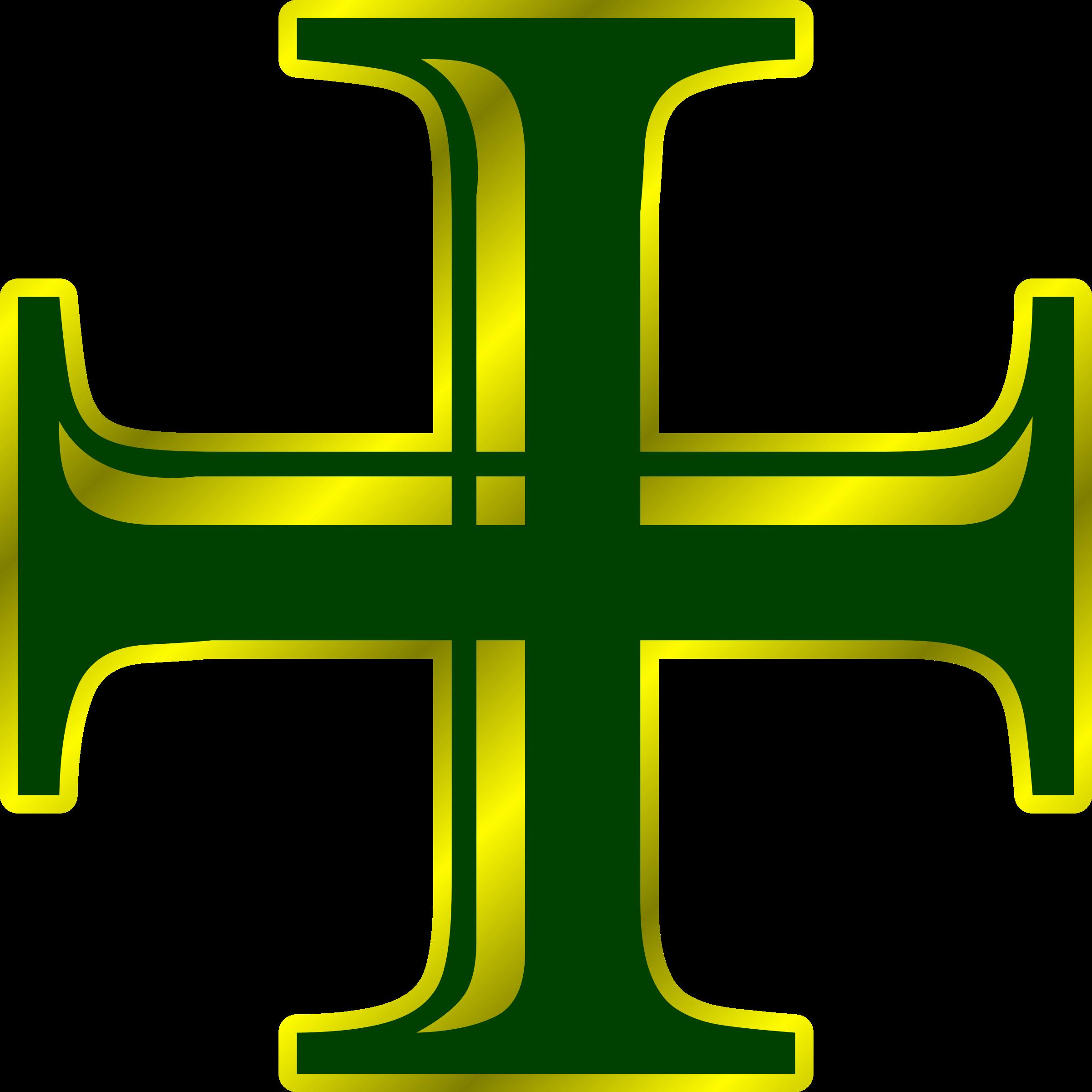 Cross love clipart banner freeuse stock Clipart - Green and Gold Cross banner freeuse stock