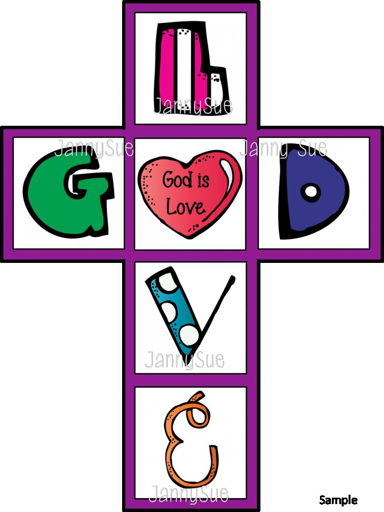 Cross love clipart jpg royalty free God is love Cross Craft jpg royalty free