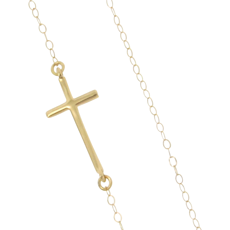 Cross necklace clipart clip art stock Small Gold Cross Necklace - clipart clip art stock