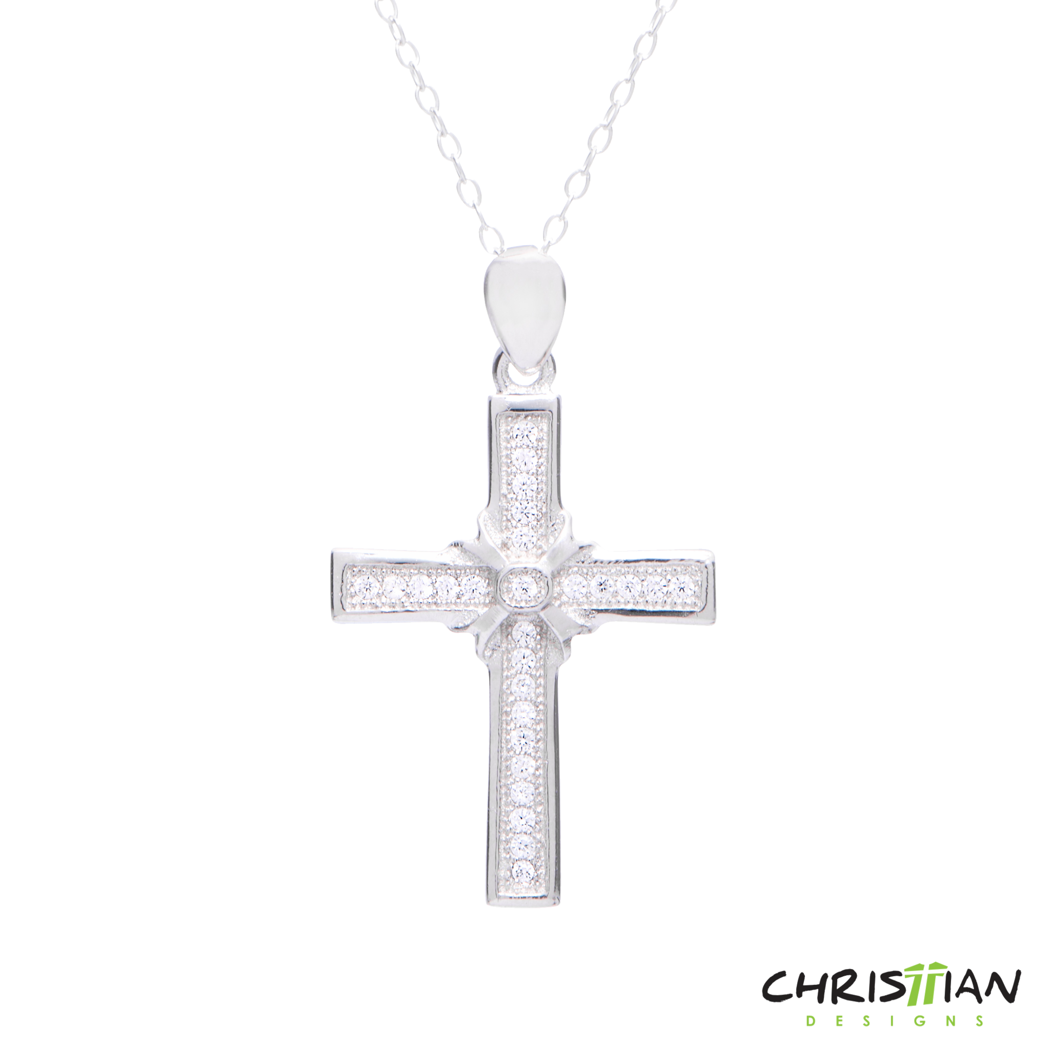 Silver cross clipart clipart freeuse Christian Cross Necklace - clipart clipart freeuse