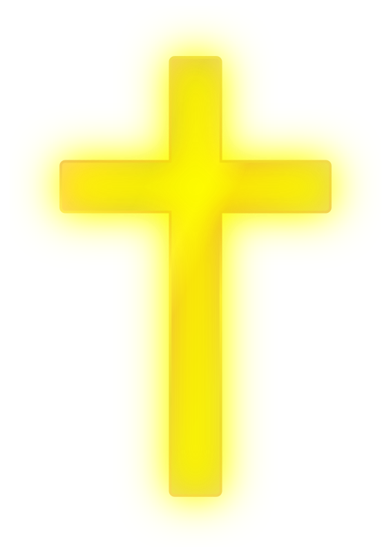 Cross on a rock clipart. Golden medium image png