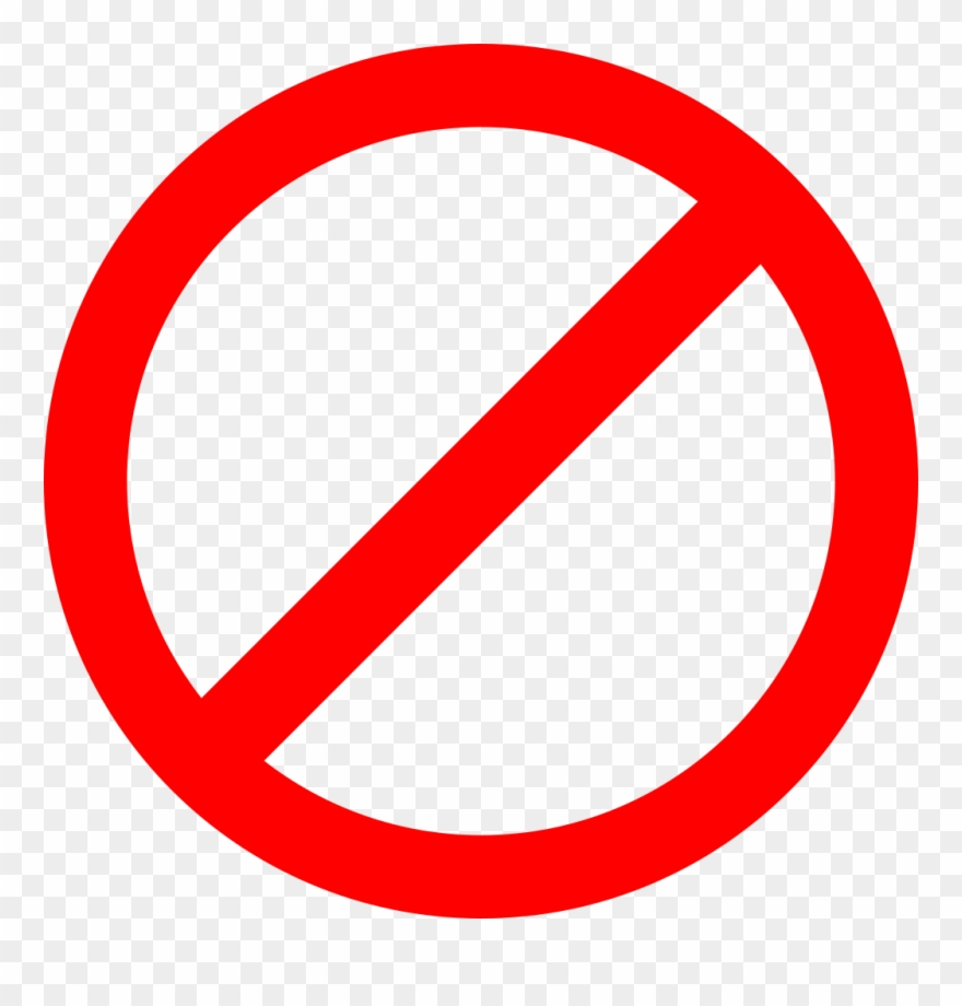No clipart transparent png royalty free library Cross Rounded Sign Clipart - No Sign Png Transparent Png (#16032 ... png royalty free library