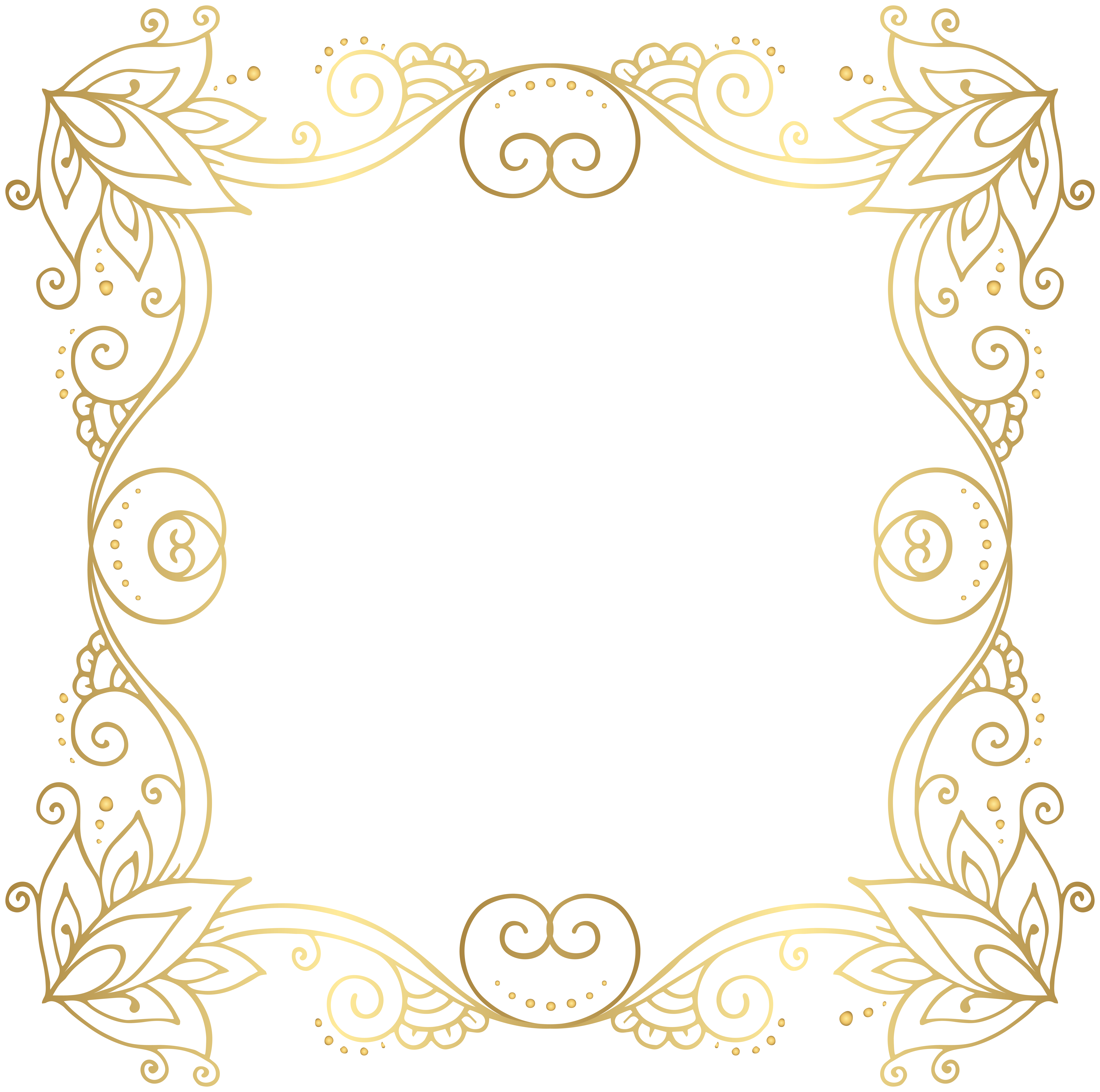 Cross photo corners clipart clipart transparent download Gold Border Frame PNG Clip Art Image | Crafts | Pinterest | Art ... clipart transparent download