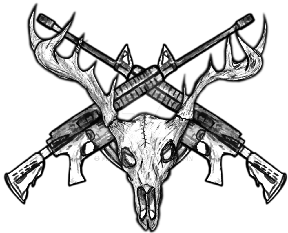 Cross rifles clipart vector transparent stock Deer Skull Drawing at GetDrawings.com | Free for personal use Deer ... vector transparent stock