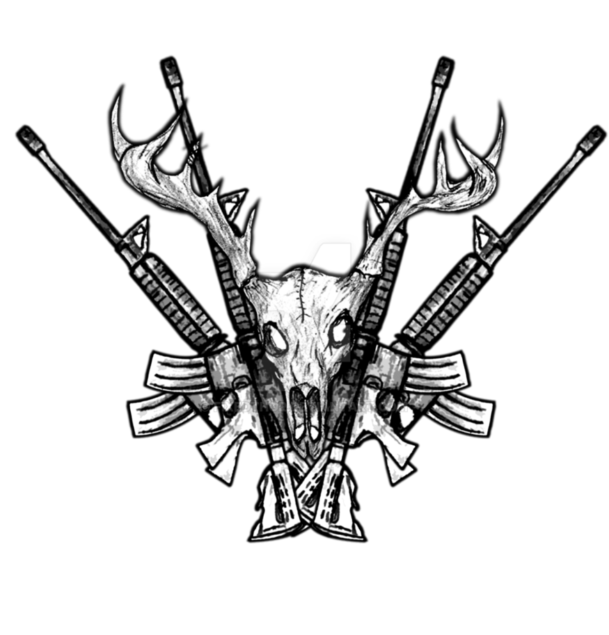 Cross rifles clipart graphic transparent Deer skull Rifles Crossed by fixedthor on DeviantArt graphic transparent
