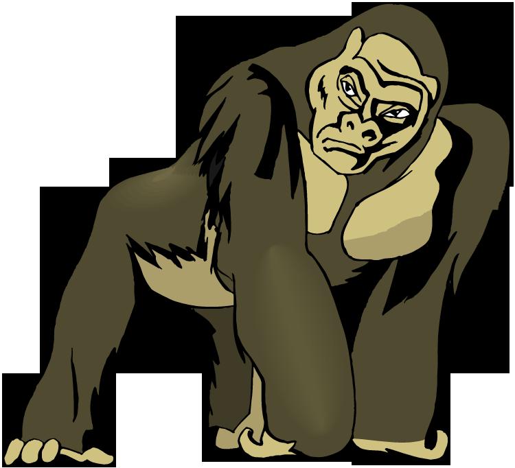 Cross river gorilla clipart clip free download Gorilla Clip | Free Download Clip Art | Free Clip Art | on Clipart ... clip free download