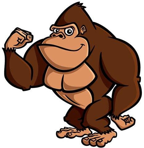 Cross river gorilla clipart. Animated clipartfest who we