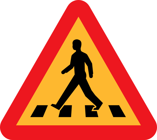 Cross street clipart clip royalty free Pedestrian Crossing Sign Clip Art at Clker.com - vector clip art ... clip royalty free