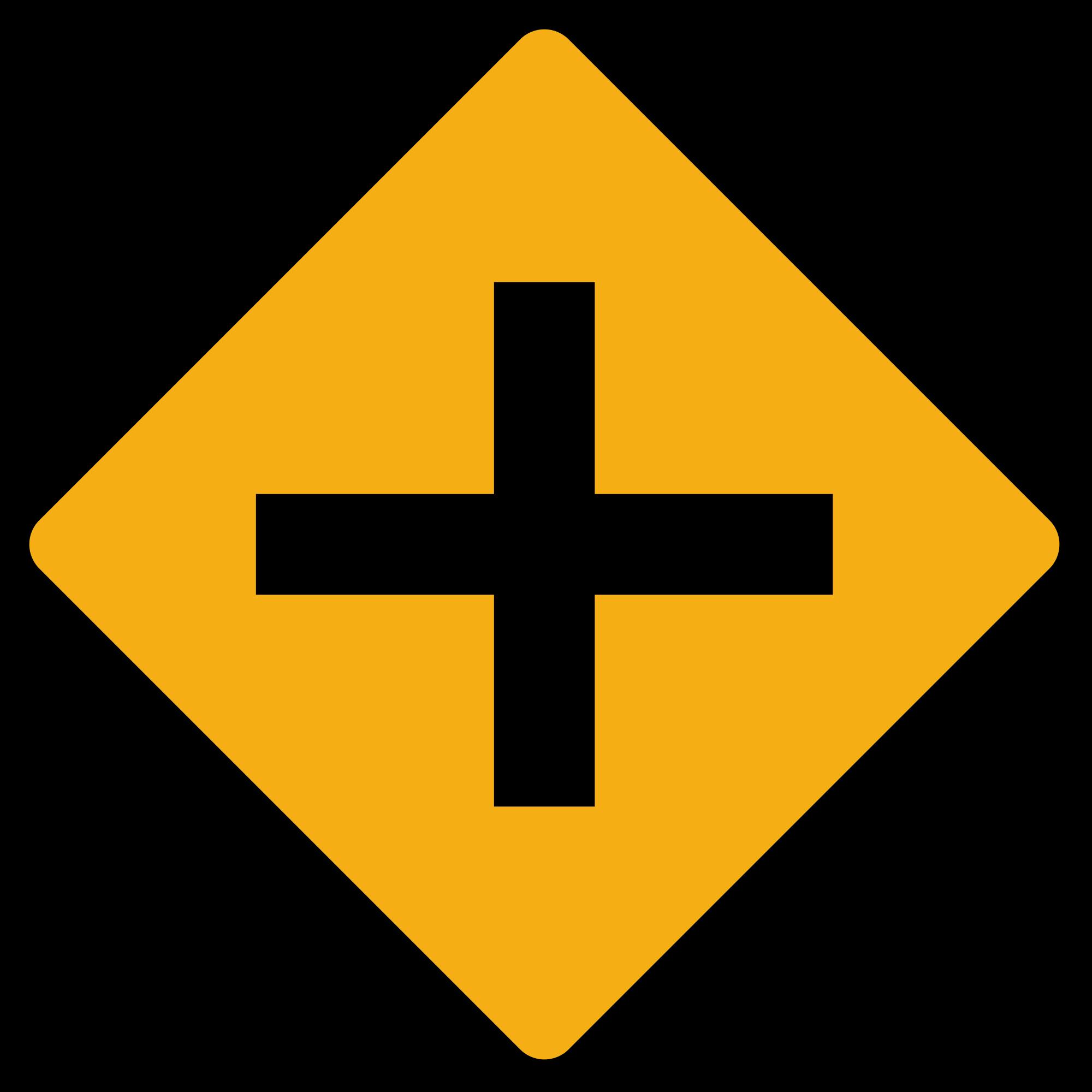 Cross roads clipart clip transparent download File:Diamond road sign junction crossroads.svg - Wikimedia Commons clip transparent download