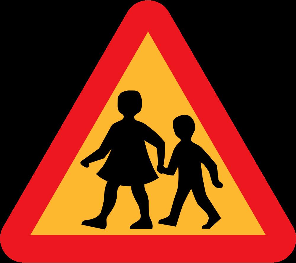 Cross roads clipart free jpg freeuse stock OnlineLabels Clip Art - Children Crossing Road Sign jpg freeuse stock