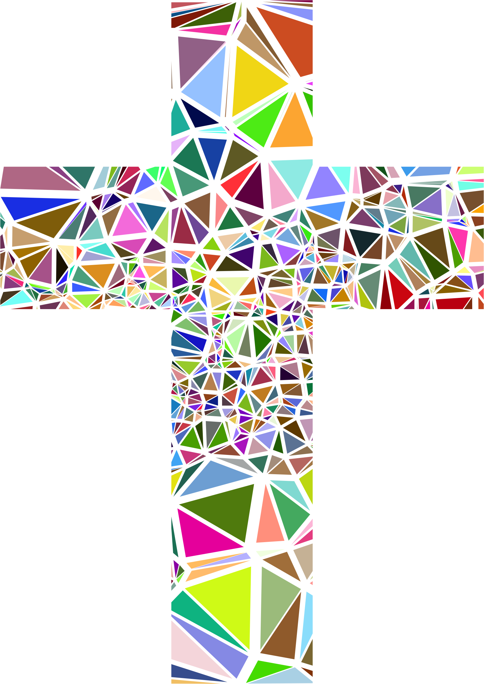 Stained glass cross clipart freeuse Clipart - Low Poly Stained Glass Cross freeuse