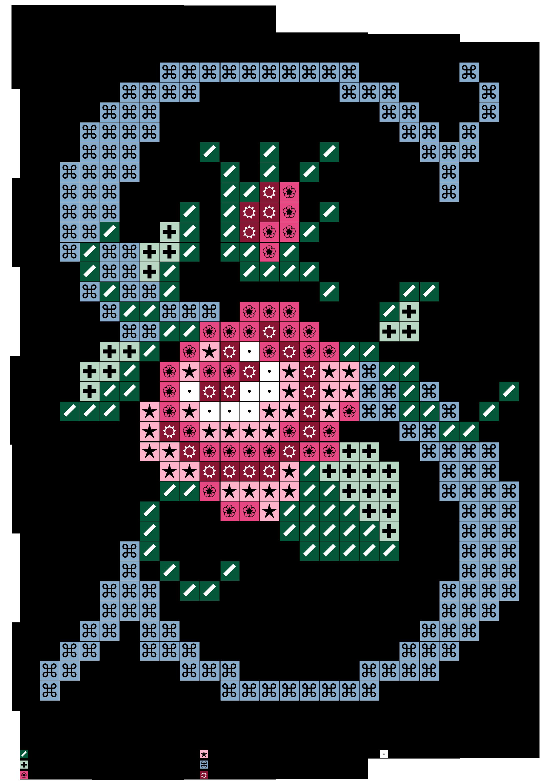 Cross stitch floss clipart free image library alfabeto celeste virgolettato con rosa: S | Cross stitch | Pinterest ... image library