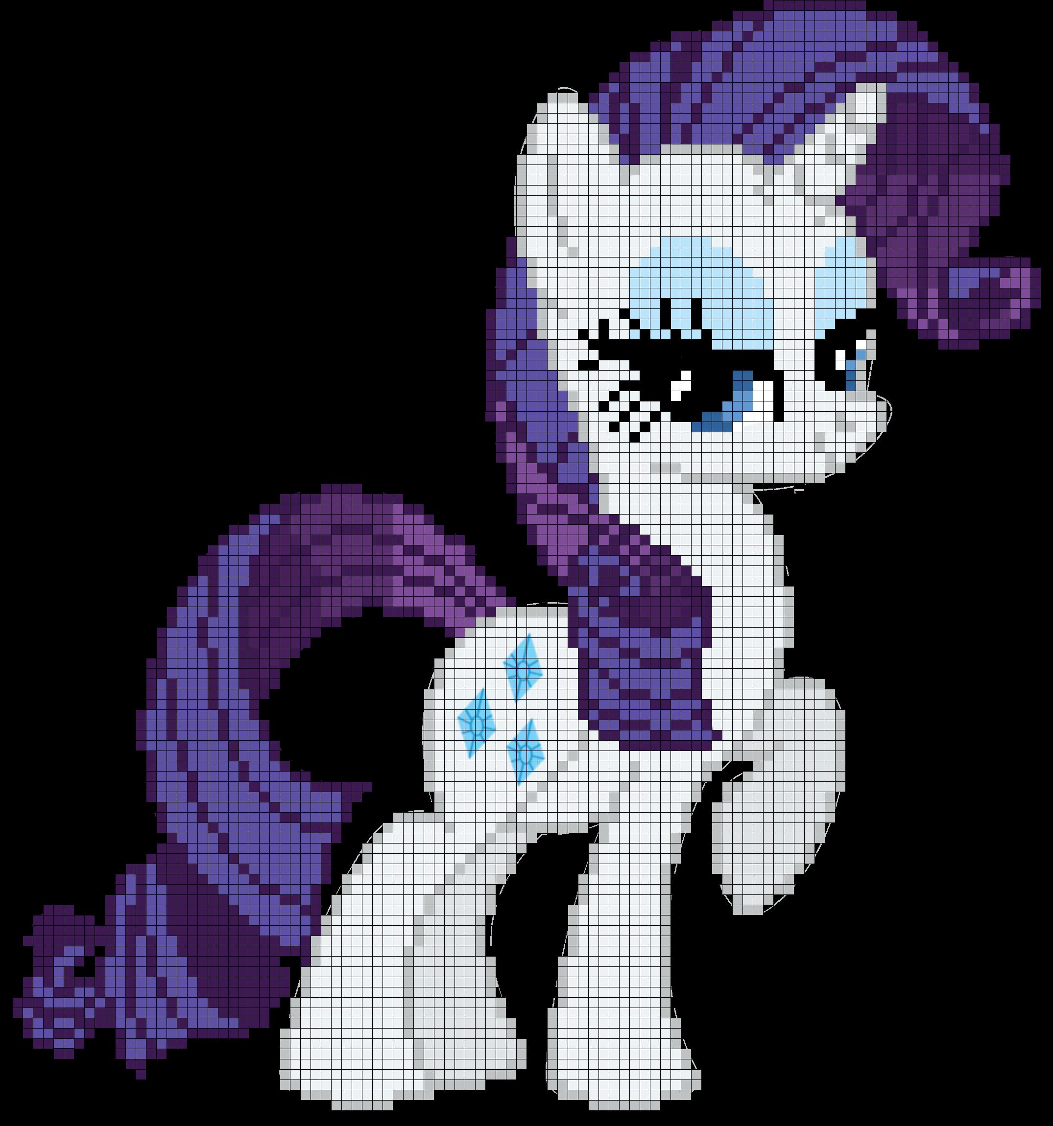 My little pony rarity. Cross stitch floss clipart free