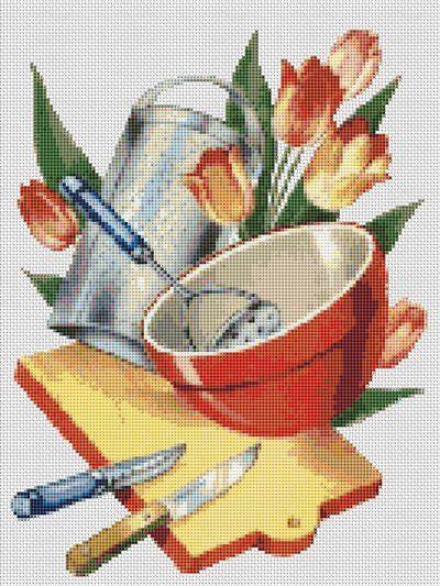 Cross stitch pattern clipart svg free download Cross Stitch Patterns - Food/Kitchen - 1950\'s Vintage ... svg free download