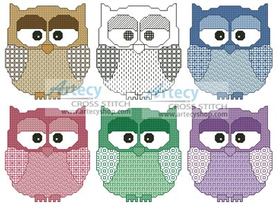 Cross stitch pattern clipart png library library Artecy Cross Stitch. Artsy Owls Cross Stitch Pattern to ... png library library