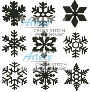 Cross stitch pattern clipart image library download Artecy Cross Stitch. Snowflakes Cross Stitch Pattern to ... image library download