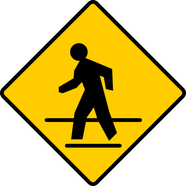 Cross walk clipart clip freeuse stock Us Crosswalk Sign Clip Art at Clker.com - vector clip art online ... clip freeuse stock