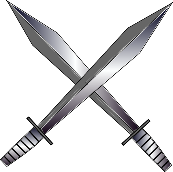 Sword and cross clipart graphic royalty free Cross Swords Clip Art at Clker.com - vector clip art online, royalty ... graphic royalty free