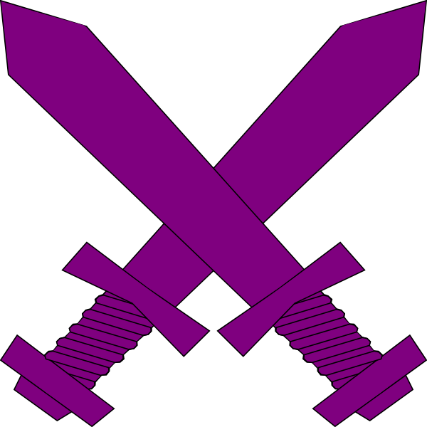 Sword and cross clipart jpg royalty free Purple Crossed Swords Clip Art at Clker.com - vector clip art online ... jpg royalty free