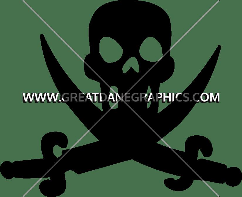 Cross swords clipart jpg free Scull & Cross Swords | Production Ready Artwork for T-Shirt Printing jpg free