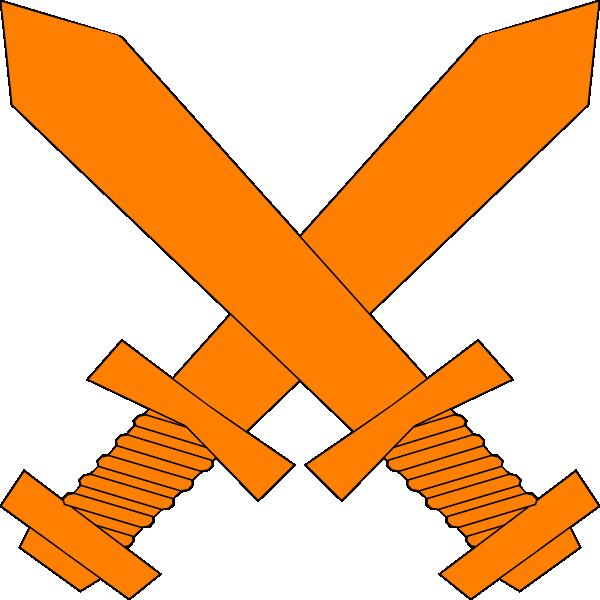 Cross swords clipart jpg transparent stock Sword Clip Art Orange - Clipart Library • jpg transparent stock
