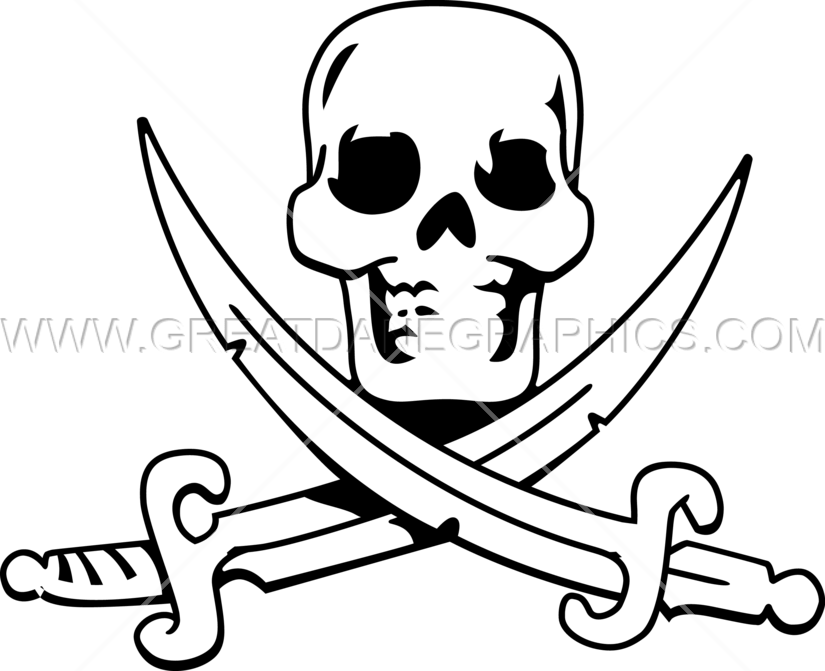 Cross swords clipart picture library download Scull & Cross Swords | Production Ready Artwork for T-Shirt Printing picture library download