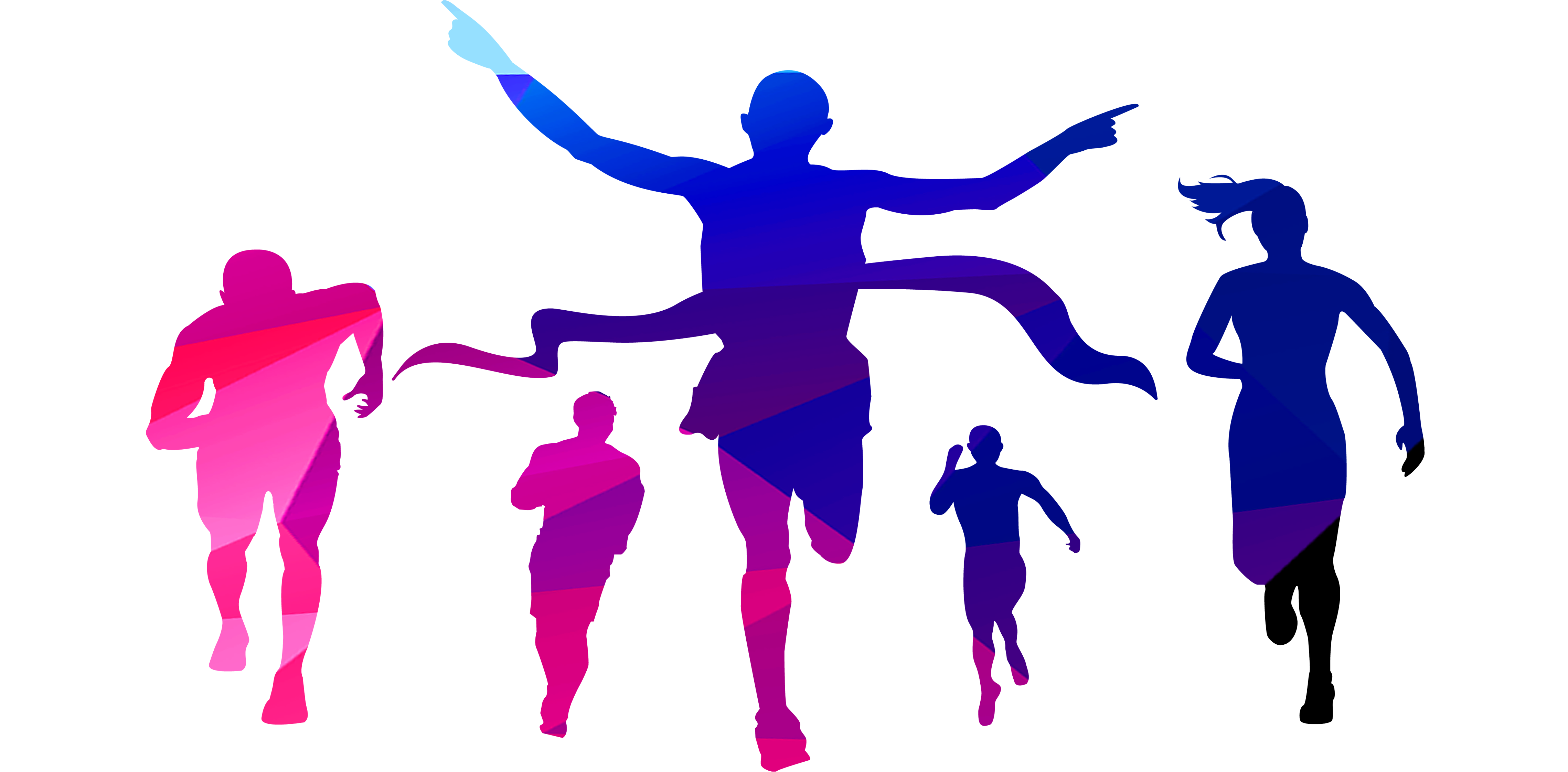 Cross the finish line clipart clip freeuse library Indira Marathon - People crossing the finish line 4557*2244 ... clip freeuse library