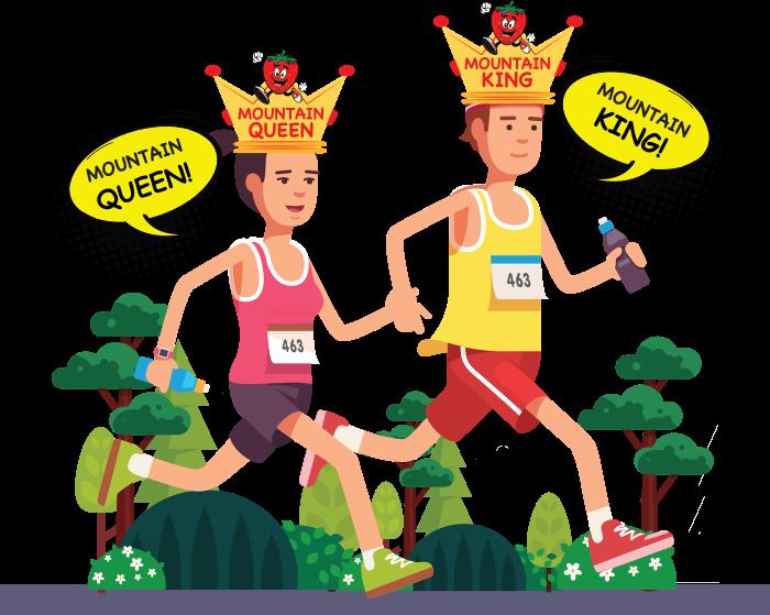 Mountain King / Queen - Ravine Run Mountain Marathon clip library library