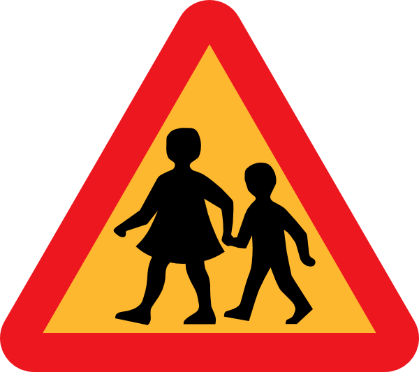 Cross the road clipart clip freeuse Child And Parent Crossing Road Sign Clip Art at Clker.com - vector ... clip freeuse