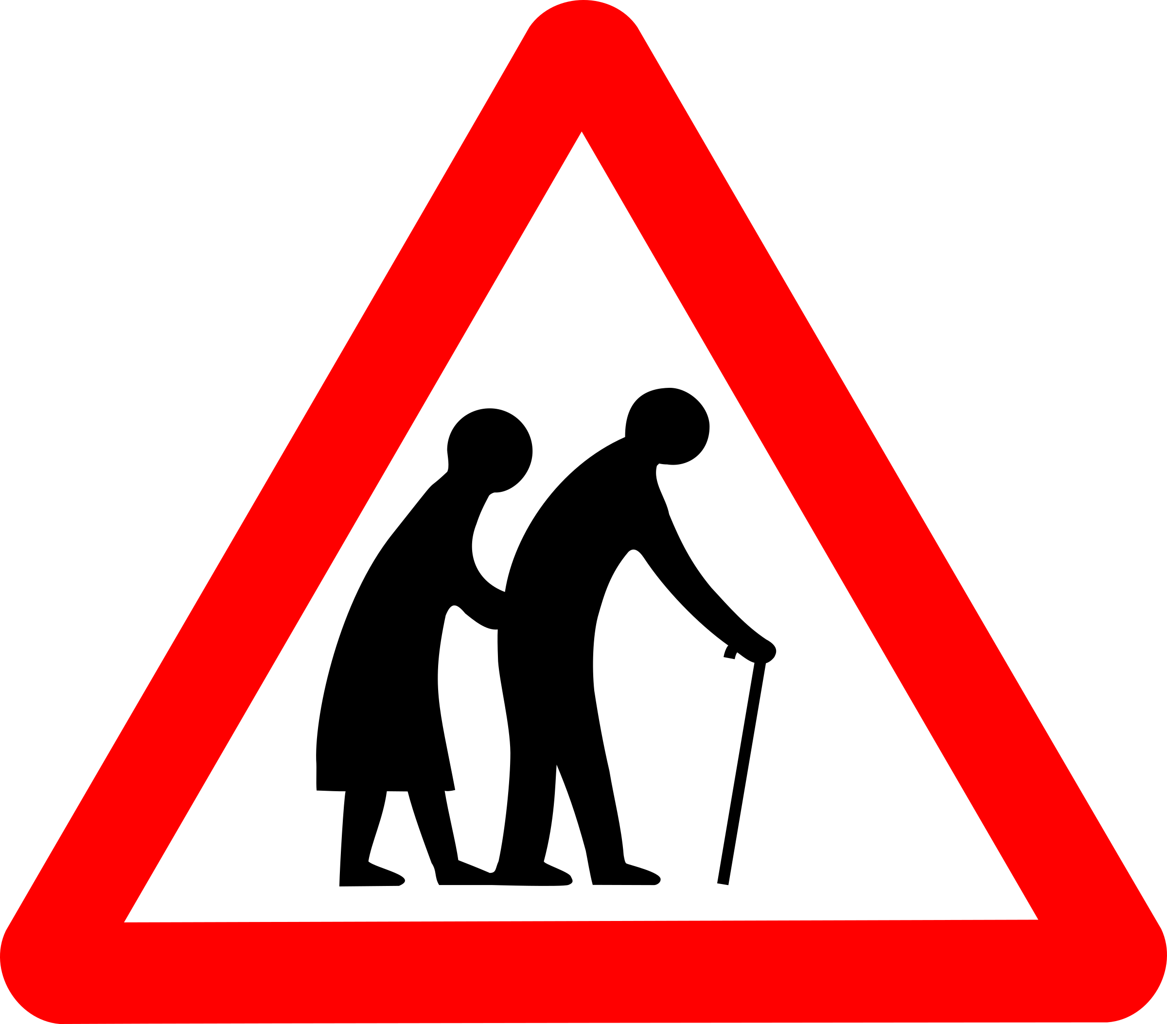 Cross the road clipart png free download Elderly crossing road sign clipart png free download