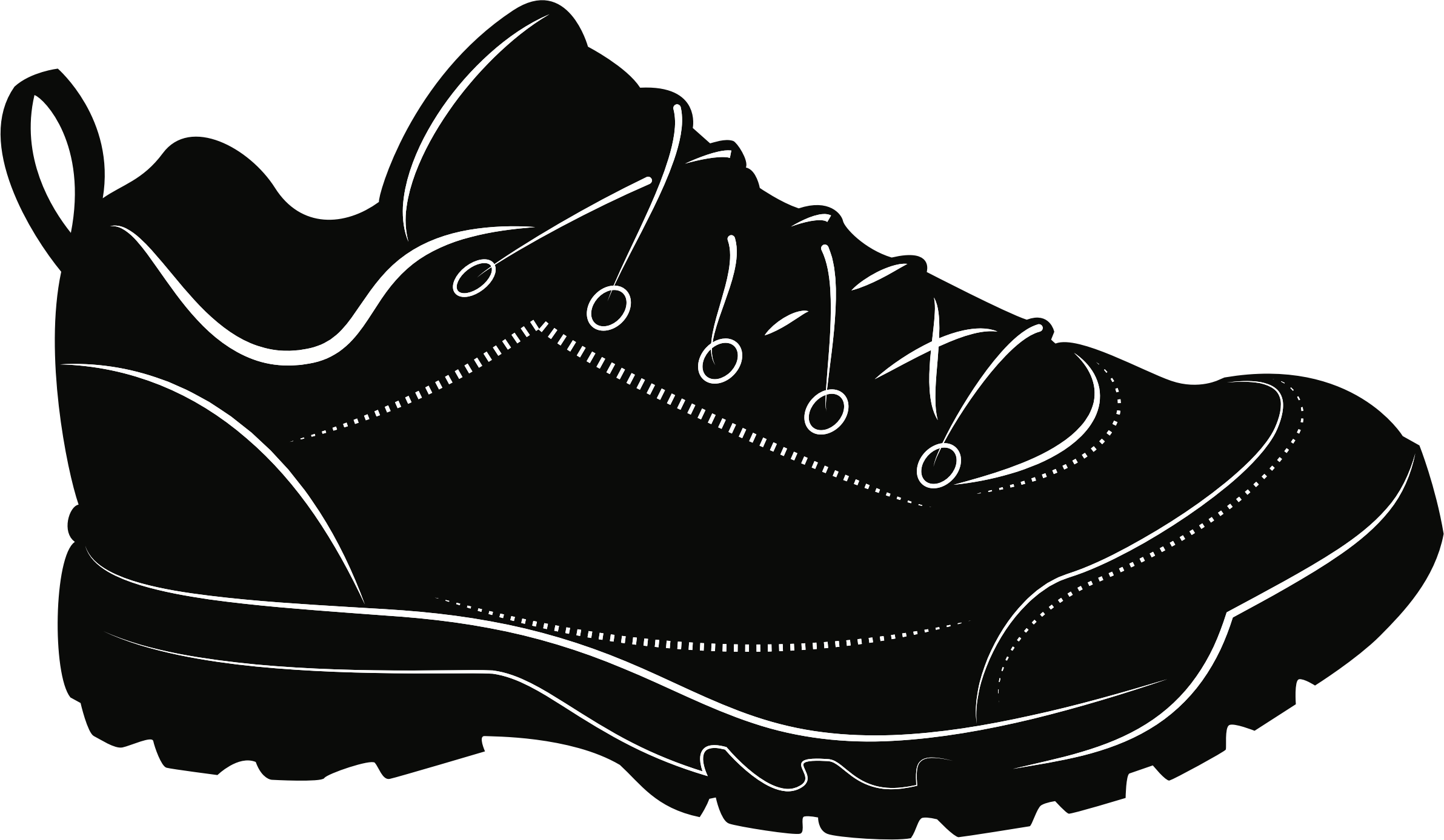 Clipart - Sneaker graphic black and white download