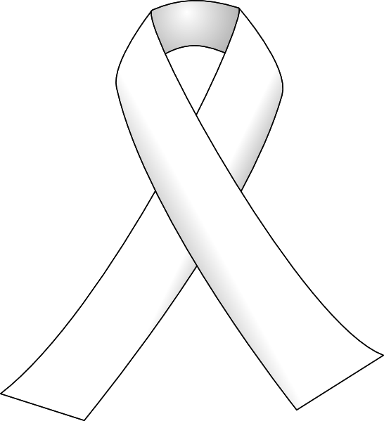 Cross with breast cancer ribbon clipart svg black and white library White Ribbon 3 Clip Art at Clker.com - vector clip art online ... svg black and white library
