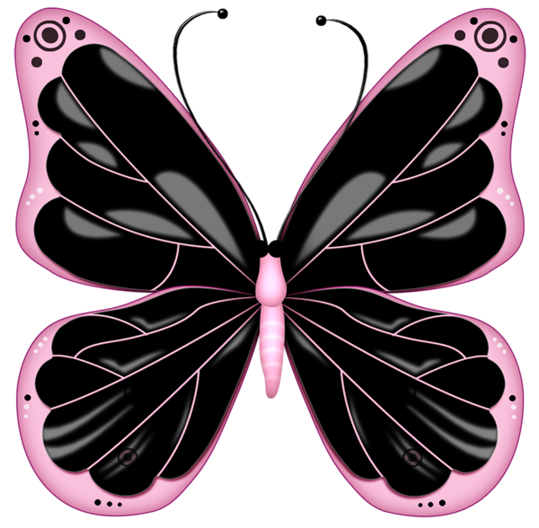 Cross with butterfly clipart jpg transparent stock Black and Pink Transparent Butterfly Clipart | Fibro Faith Hope ... jpg transparent stock