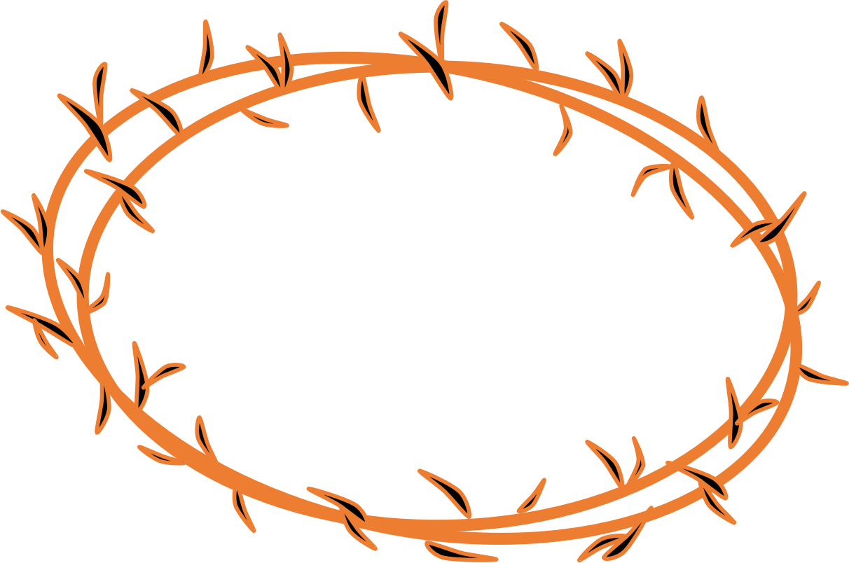 Cross with crown of thorns clipart image royalty free Jesus Crown Of Thorns Clip Art N2 free image image royalty free