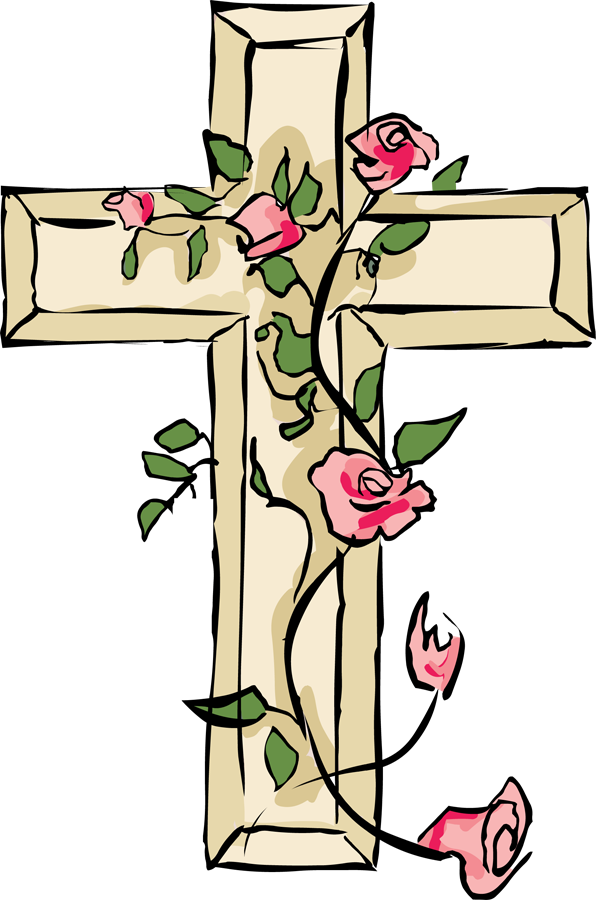 Cross with flower clipart clip art transparent Good Friday Easter Christianity Clip art - Easter Cross Images 596 ... clip art transparent