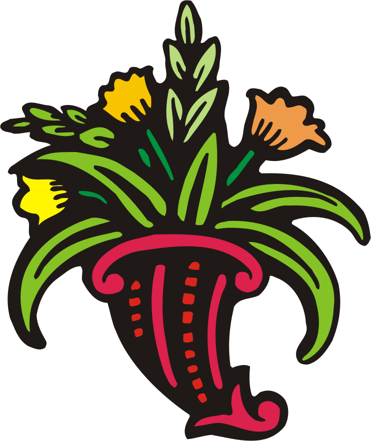 Cross with flowers clipart. And clip art cliparts