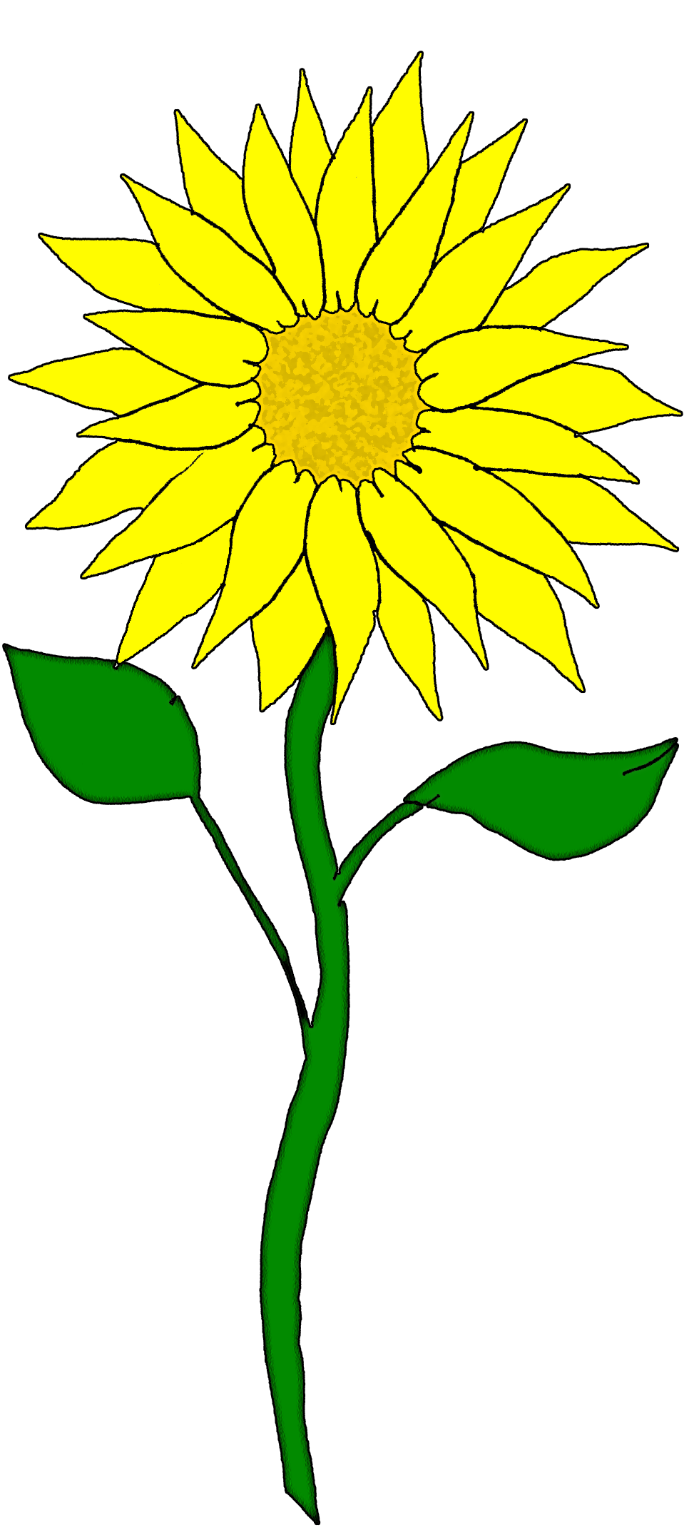 Sun and plant clipart for girl scout shirts clip royalty free library Free Flower Clipart | Flowers--clipart | Pinterest | Flower clipart clip royalty free library