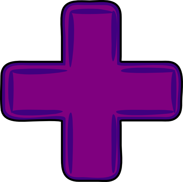 Cross with purple clipart clipart library Purple Plus Cross Clip Art at Clker.com - vector clip art online ... clipart library
