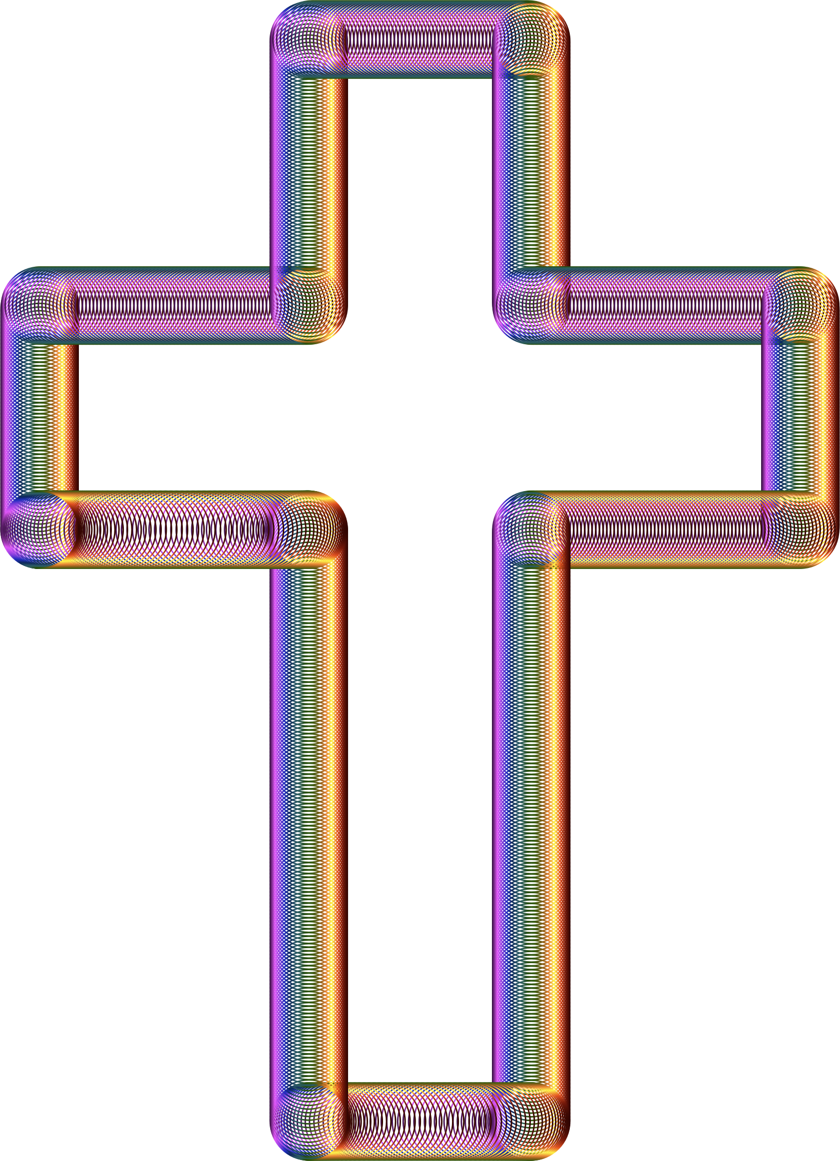 Cross with purple clipart banner transparent download Clipart - Cross Tubes Chromatic No Background banner transparent download