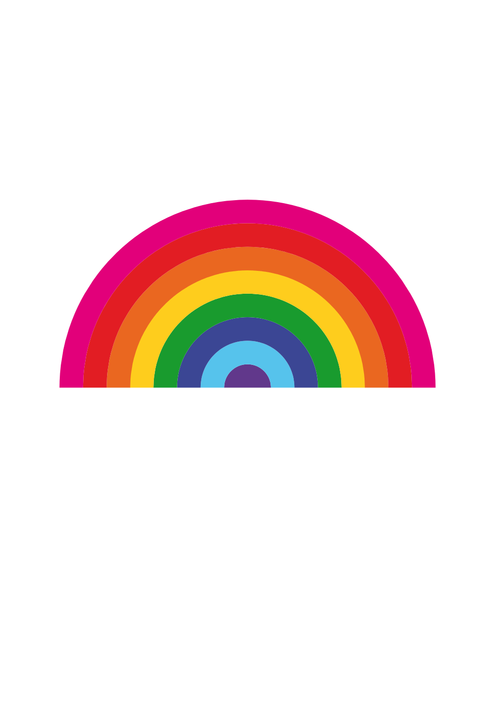 Cross with rainbow clipart image free stock OnlineLabels Clip Art - Ostadarra Arcoiris Rainbow image free stock