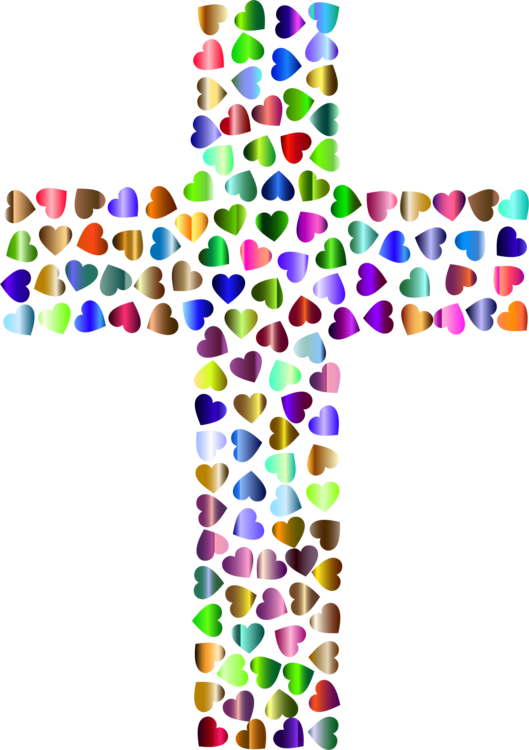 Cross with rainbow clipart jpg transparent download Christian cross Christianity Crucifixion of Jesus free commercial ... jpg transparent download