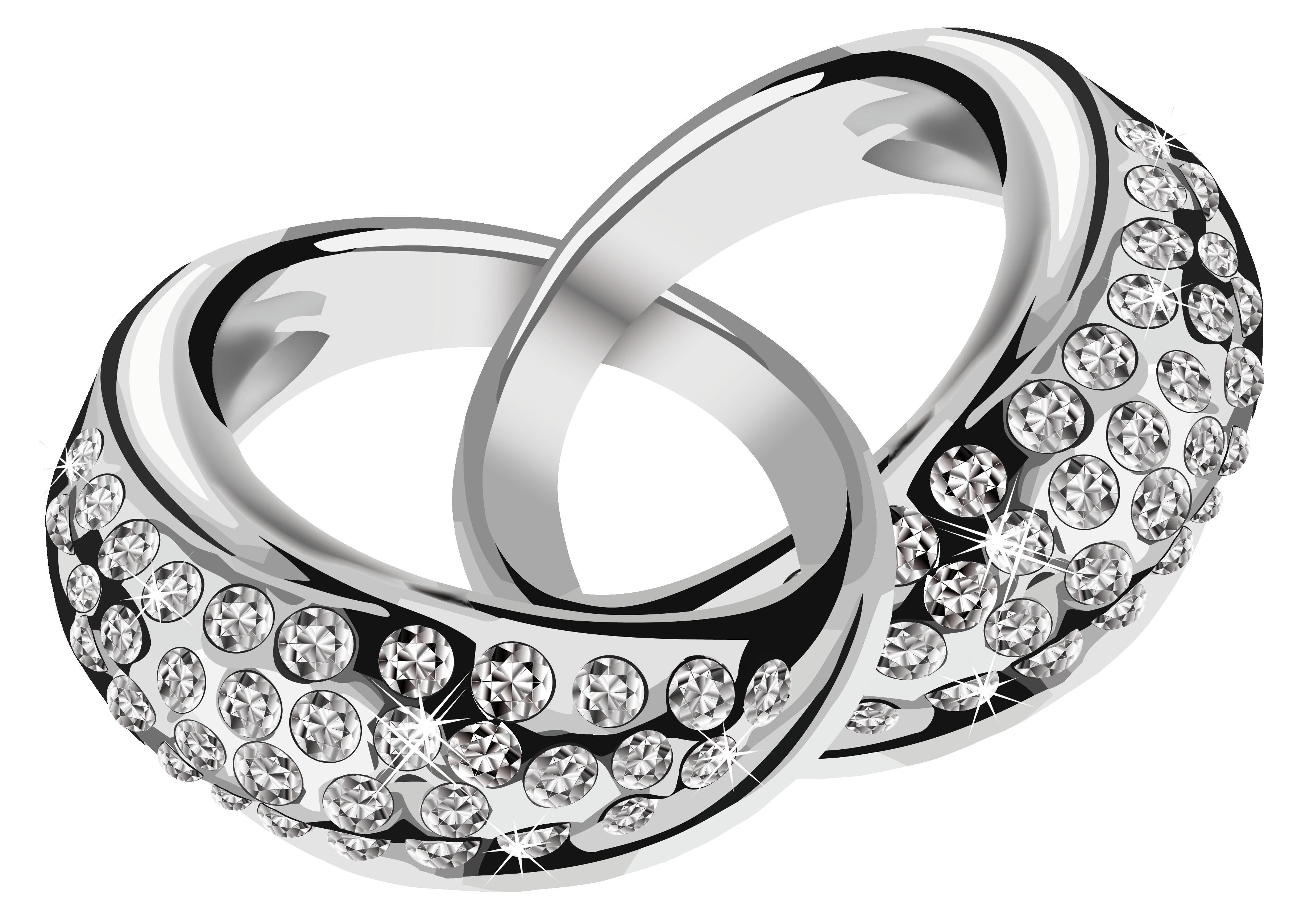 Wedding : Wedding Rings Clipart Interlocking Making Two Clip Art ... vector royalty free