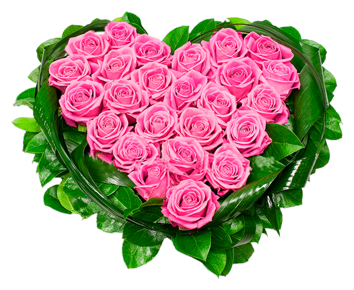 Heart of Pink Roses PNG Clipart Picture | Gallery Yopriceville ... clipart library download