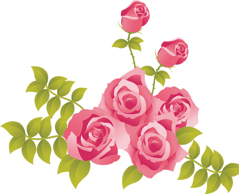 Flower painting clipart graphic library Pink Roses Free Clipart graphic library
