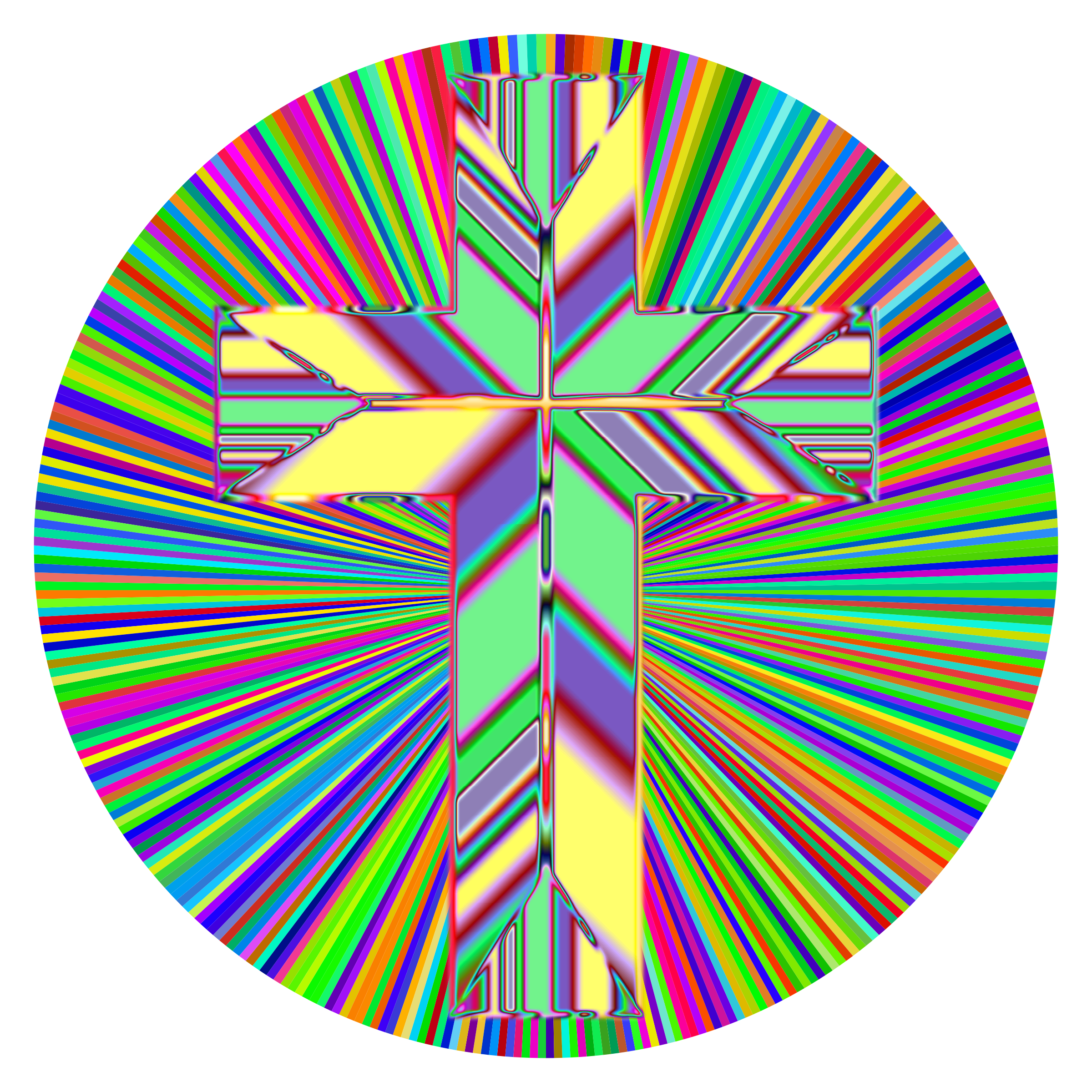 Cross with sun rays clipart picture Clipart - Prismatic Refractive Cross picture