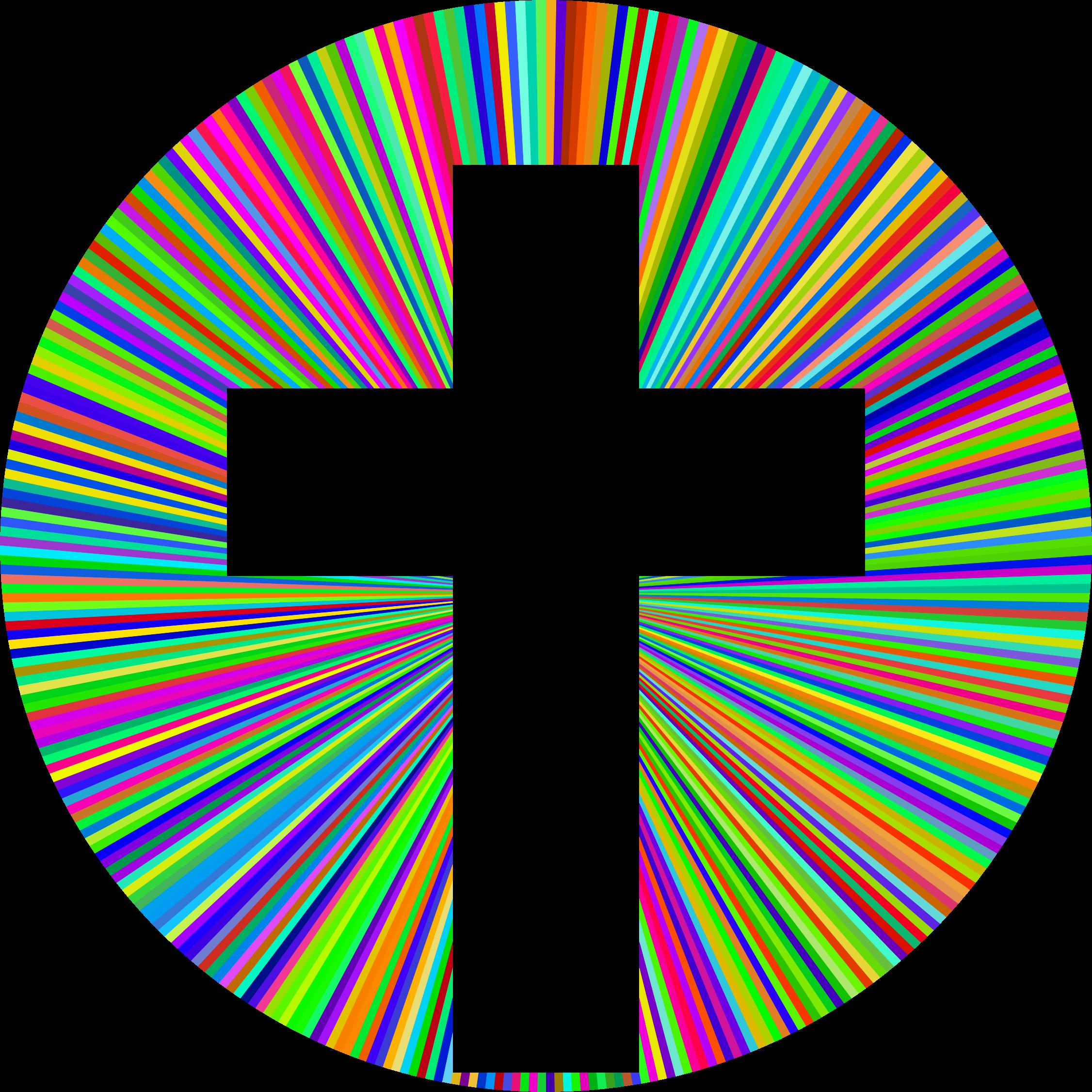 Rainbow cross clipart clip art free Clipart - Prismatic Cross Halo clip art free