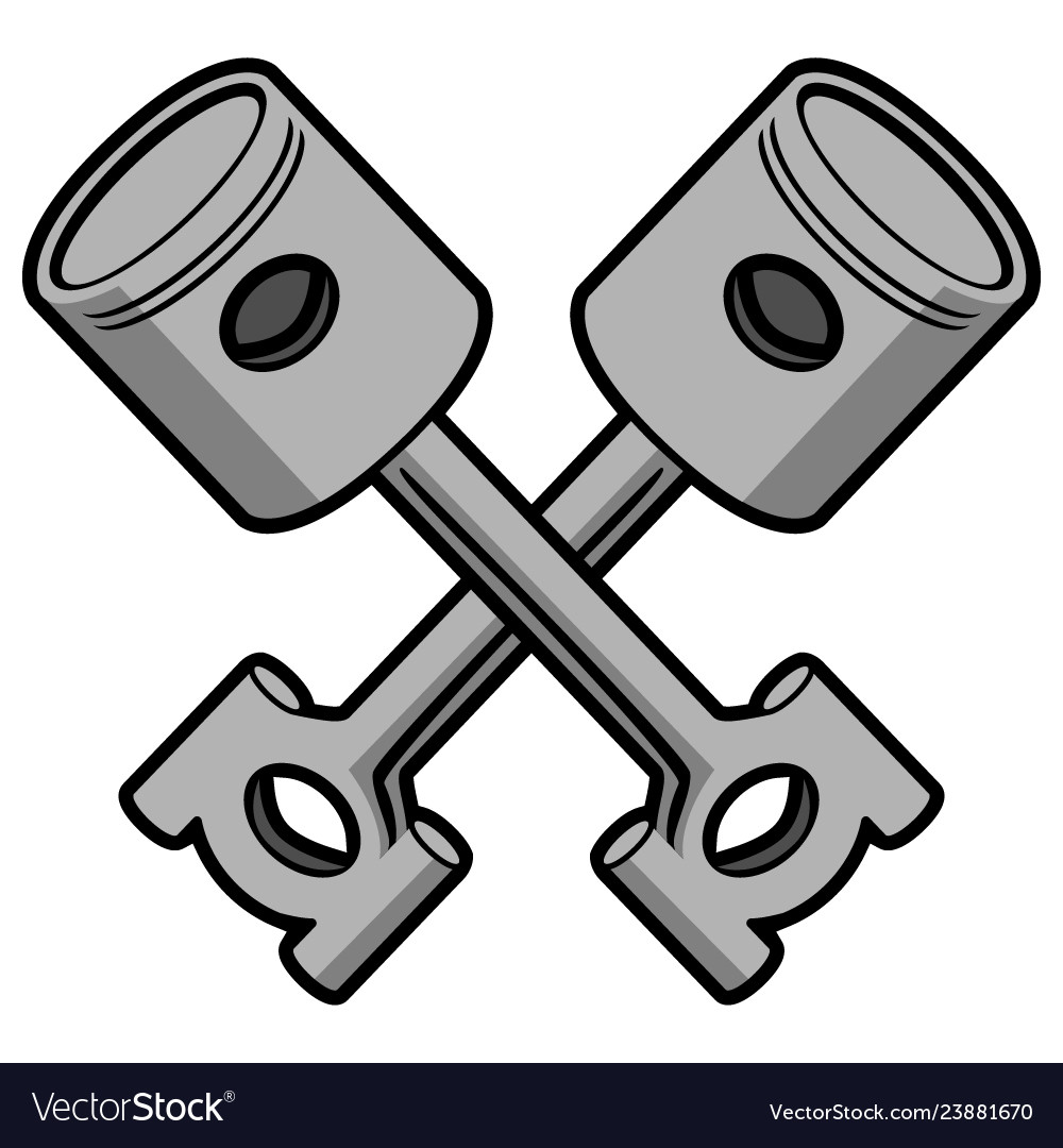 Crossed pistons clipart png transparent download Crossed pistons Royalty Free Vector Image - VectorStock png transparent download