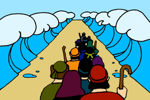 Crossing the red sea clipart clipart black and white Crossing the Red Sea – Mission Bible Class clipart black and white