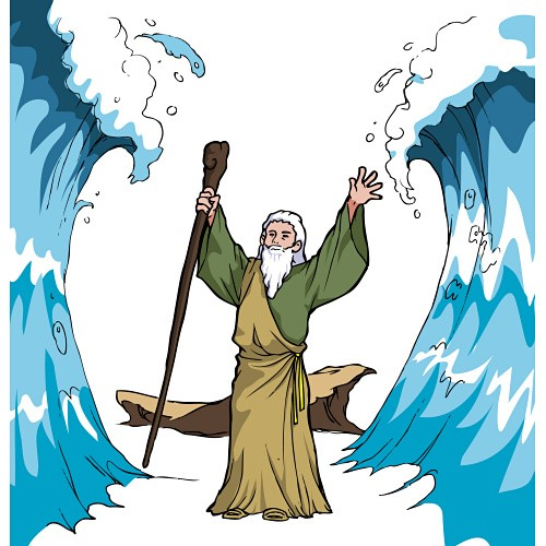 Crossing the red sea clipart image royalty free stock Download moses and the red sea clipart Crossing the Red Sea Bible image royalty free stock