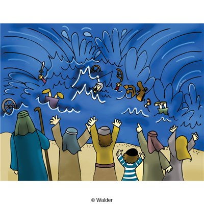 Crossing the red sea clipart png free download Exodus from Egypt: Celebrating Crossing the Red Sea | Walder Education png free download
